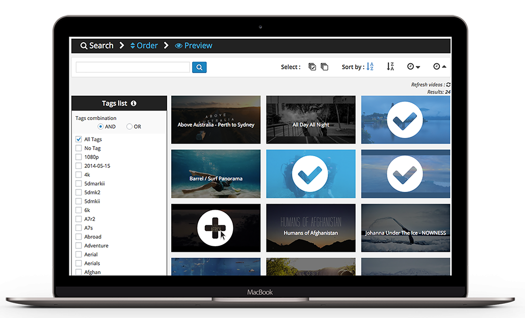 Access your Vimeo Portfolio