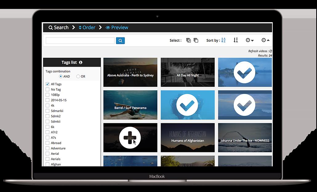 Access your Vimeo Portfolio