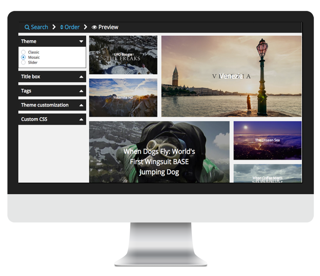 WP Video Gallery: visually build Vimeo & Youtube portfolios in Wordpress